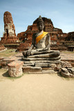 Monuments of buddah, ruins of Ayutthaya, old capital of THAILAND poster