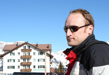 Man  in Ski resort