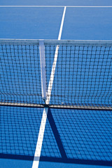 Resort tennis club and tennis courts with balls