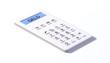 Taschenrechner white design geld