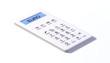 Taschenrechner white design euro