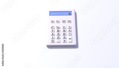 Taschenrechner white design reset front