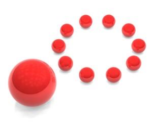 red spheres