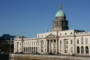 Custom House - ornate landmark of Dublin, Ireland (Europe)