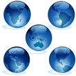 Earth Aqua Set - blue glass globes