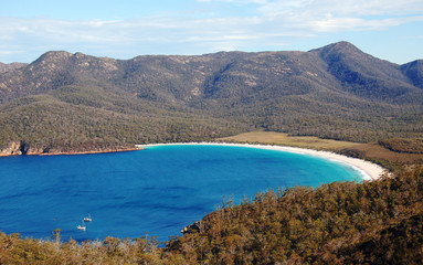 Wineglass Bay, Freycinet National Park, Tasmania, Australia....