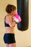 Punching With Pink Gloves 1 poster