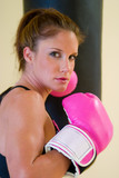 Punching With Pink Gloves 4 poster