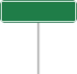 letrero verde
