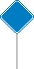 señalamiento azul