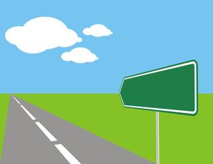 aviso en la carretera