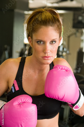 Woman In Pink Boxing Gloves 5