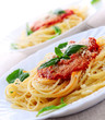 roleta: Pasta with tomato sauce basil and grated parmesan