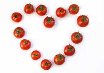herz aus tomaten
