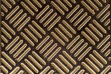 Diagonal stripes on metal