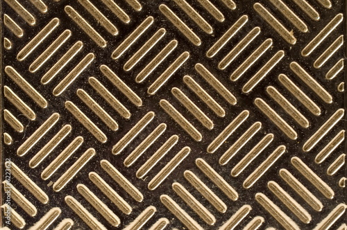 Diagonal stripes on metal