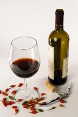 Wine and chili pepper