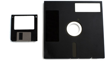 black two floppies disk isolated