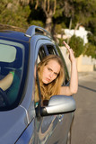 road rage angry woman in car poster