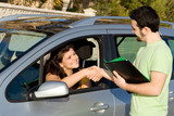 driving test car hire or rental or new vehicle poster