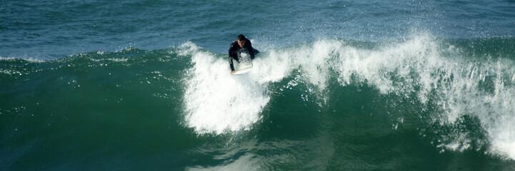 départ de la vague