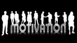 motivation - silber - silhouetten poster