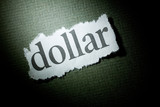 Headline Dollar, concept of finance Solution or Problem poster