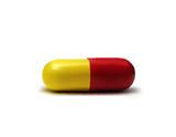 Vector realistic medicament. poster