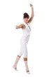 The young woman in a classical ballet pose
