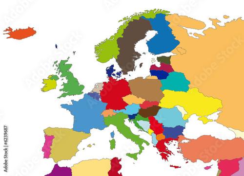 Une carte de l'Europe. Image de politique et région en europe.