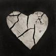 Quadro Malerei mit Herz