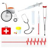 Vector Medical tools  poster