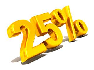 Twenty-five percent. Gold