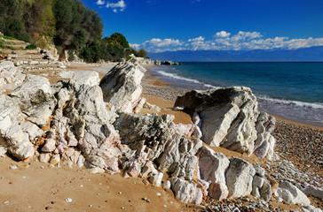 Rocky beach in the Mediterranean