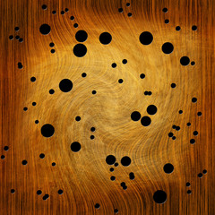 Wood texture with termite holes