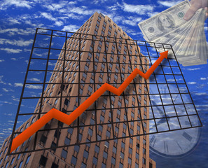 A photo illustration depicting Financial Growth