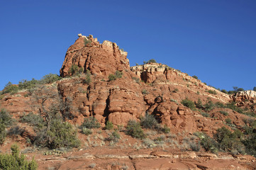 The bright red cliffs of Sedona, Arizona.