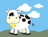 vaca en el campo poster