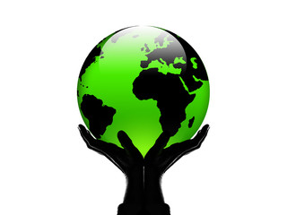 World in my hand green