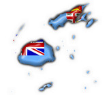 fiji button flag map shape