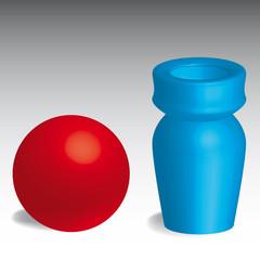 Kugel, Vase - 3d