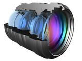 The optical scheme of a camera lens poster