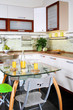 Detail interior modern kitchen with table