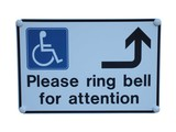 A Disabled Sign to Ring for Attention. poster