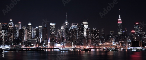 Leinwanddruck Bild Lights of NY CIty