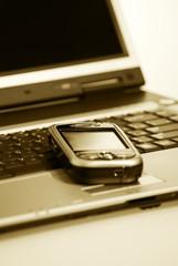 Communicator and notebook closeup