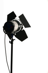studio light siluet isolated only white