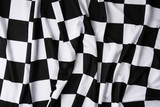 Real checkered flag - texture details in the material poster