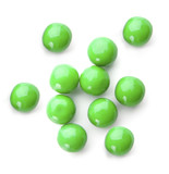 green bubble gum balls isolated on white poster