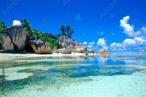 Leinwanddruck Bild plage des seychelles